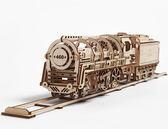 Ugears 蒸汽火車頭 物理原理運轉 不需電池 可動模型 DIY大人的玩具 交換禮物收藏