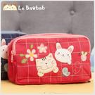 腰包~Le Baobab日系貓咪包 啵啵貓春暖花開腰包//手提包/側背包/拼布包包