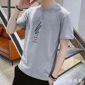 男士短袖T恤2019夏季新款圓領韓版潮流寬鬆百搭休閒上衣 QW3774【衣好月圓】