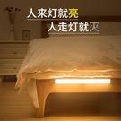 小夜燈智慧人體自動聲控感應led小夜燈泡充電式臥室床頭床邊家用無線起新年禮物
