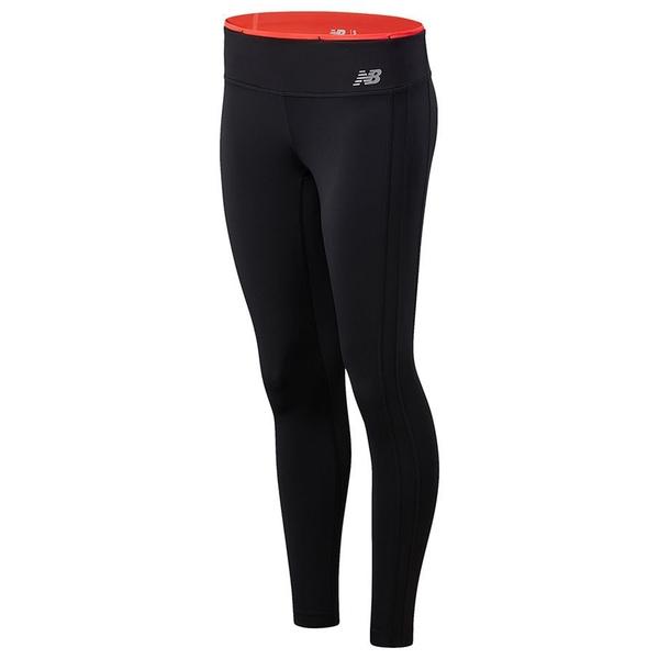New Balance Accelerate 女裝 長褲 慢跑 緊身 Dry 色塊 反光LOGO 黑 紅【運動世界】WP11218VCO