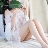 情趣內衣性感吊帶白色仙女透明誘惑公主套裝騷薄紗睡衣大碼睡裙【免運快出低價超值】