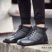 雨鞋男低筒防滑水鞋時尚膠鞋雨靴短筒成人防水鞋【時尚大衣櫥】