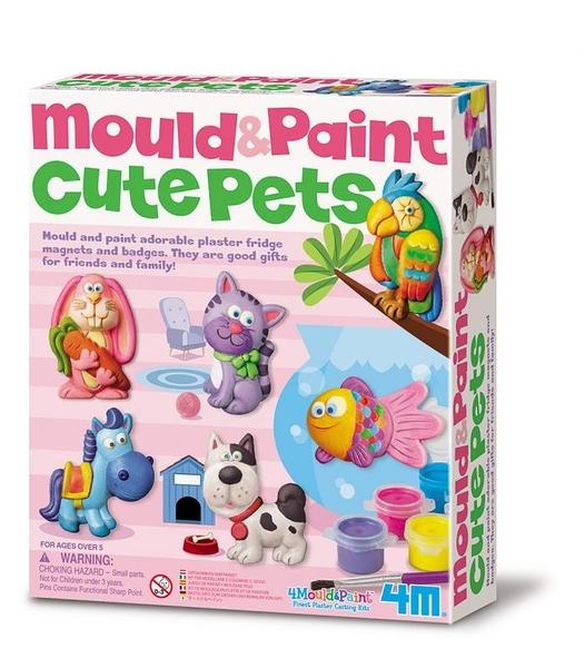【4M】03539 美勞創意-可愛寵物 製作磁鐵 Mould & Paint Cute Pets