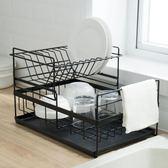 創意家用廚房雙層碗碟盤瀝水架水槽餐具筷勺收納置物儲物架wy