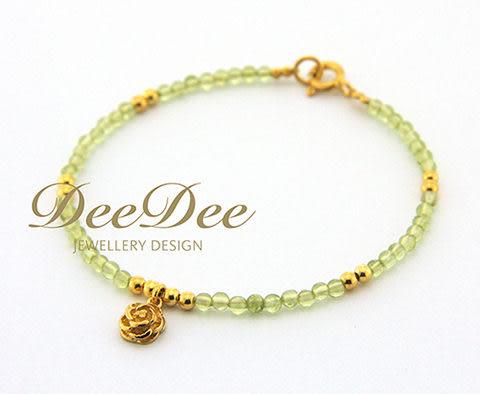 天然橄欖石手鍊,搭配多款 925純銀 Charm,DeeDee Jewellery 8月誕生石、生日石,生日禮物