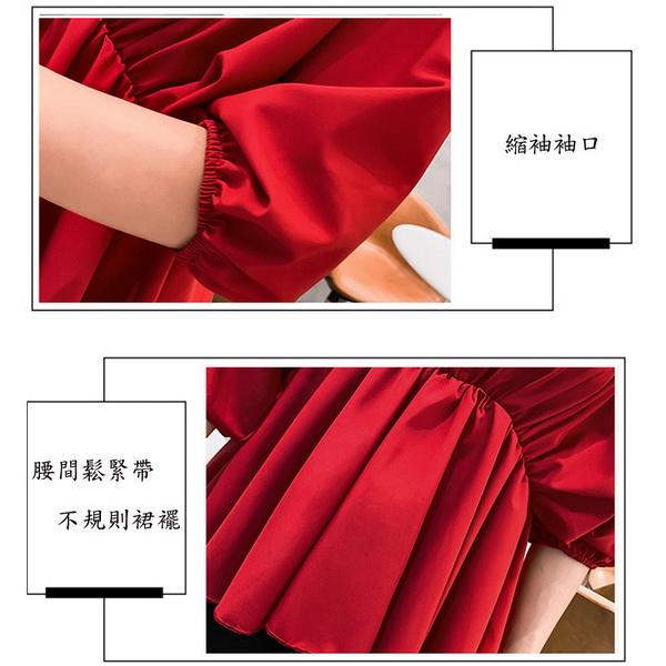 純色V領不規則下擺澎袖孕婦上衣 三色 【CTH080220】孕味十足 孕婦裝