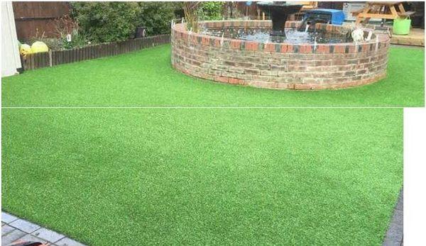 草坪地毯仿真草坪人造人工草坪假草皮塑料幼兒園戶外綠色地毯  IGO