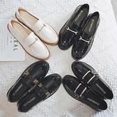 牛津鞋/紳士鞋 英倫風小皮鞋女鞋2021春季新款爆款鞋子潮豆豆鞋學生百搭黑色單鞋