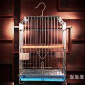 不銹鋼色加粗電鍍鳥籠鴿子籠八哥鷯哥畫眉鸚鵡鳥籠子WY