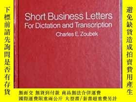 二手書博民逛書店Short罕見Business Letters For Dictation And Transcription W