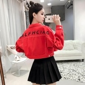 短款牛仔小外套女2019秋裝新款bf韓版學生百搭高腰夾克小個子上衣
