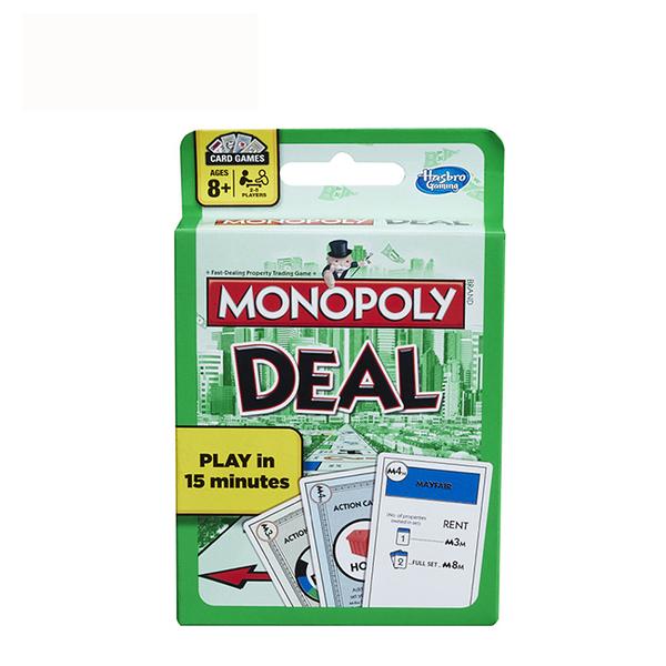 【Hasbro 孩之寶】地產大亨 紙牌交易遊戲 DEAL-Card game(新版) HB0965A200