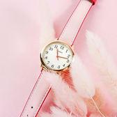 TIMEX 天美時 / TXTW2R62800 / 美國品牌 小巧女伶 INDIGLO專利冷光照明 真皮手錶 米白x玫瑰金框x粉 30mm