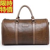 旅行袋-肩背新款時尚真皮橫款鱷魚紋男手提包66b38[巴黎精品]