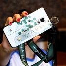 三星Note4手機殼A6s女文藝A9s小清新腕帶支A8S架全包保護