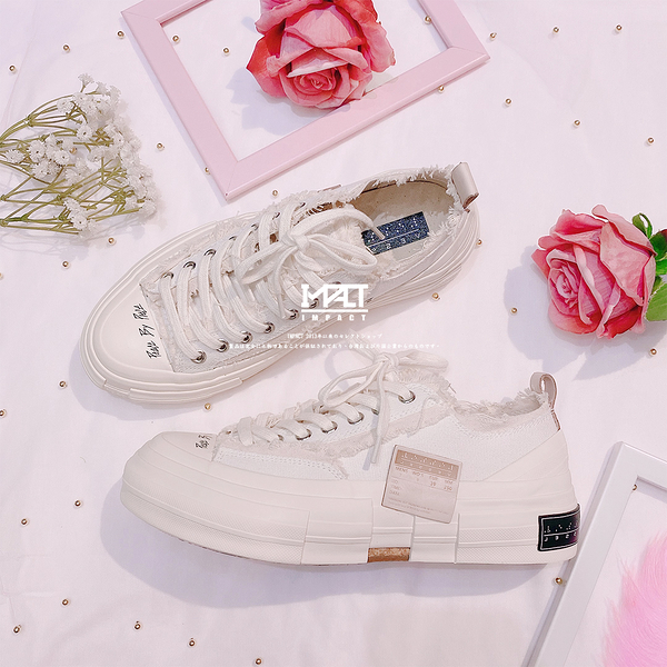 IMPACT xVESSEL G.O.P. Lows All White 解構帆布鞋 解構鞋 低筒 白 皮標 吳建豪