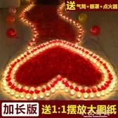 蠟燭浪漫 生日禮物心形玫瑰創意愛心表白告白佈置道具 小艾時尚