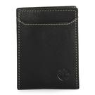 Timberland 細紋皮革logo烙印名片夾信用卡夾(黑色)850005