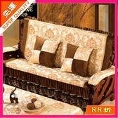 沙發墊 帶靠背紅木沙發坐墊實木沙發墊冬季厚中式老式木頭木沙發坐墊連體