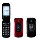 【免運費】鴻基 Hugiga A6 銀髮族御用4G摺疊手機 ( 雙電池) 黑