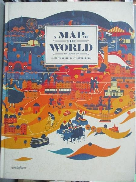 【書寶二手書T1/設計_WGR】A Map of the World-According to Illustrato..._Antoniou