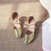 拉丁舞鞋女成人廣場舞鞋中跟舞蹈鞋銀色跳舞女鞋高跟軟底演出鞋秋