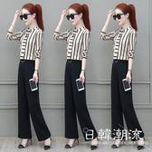 套裝  闊腿褲時尚套裝女春裝2019新款韓版女士洋氣顯瘦小個子氣質兩件套