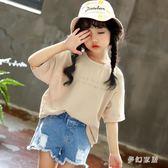 女童韓版短袖T恤2019新款兒童洋氣半袖寶寶寬鬆短袖上衣 QW3106『夢幻家居』