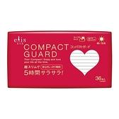 日本大王elis愛麗思COMPACT GUARD               GO可愛日用超薄衛生棉17cmX36片【愛買】