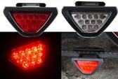 通用型 第三煞車燈 F1競賽尾燈 12顆LED 警示燈 保桿燈 警示燈 防追撞 閃爍恆亮 三角燈