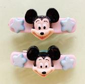 【震撼精品百貨】Micky Mouse_米奇/米妮 ~髮夾兩入~米奇粉#53637