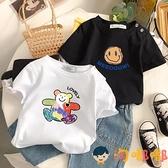 寶寶短袖t恤兒童上衣女童夏季中大童半袖純棉姐妹裝【淘嘟嘟】