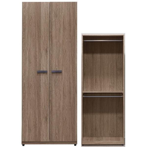 衣櫃 衣櫥 QW-169-2 亞力士2.5尺雙吊衣櫃【大眾家居舘】