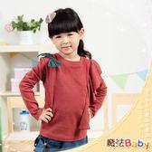 韓版荷葉邊蝴蝶結設計上衣 童裝 魔法Baby