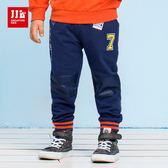 JJLKIDS 男童 美國淘氣男孩拼貼棉褲(藏青)