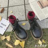 中大尺碼娃娃鞋 小皮鞋復古大頭鞋女韓版原宿風圓頭可愛 DR4226【男人與流行】