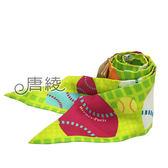 【Hermes 愛馬仕】BALLES DE TENNIS網球圖騰Twilly絲巾/領結(青蘋綠)