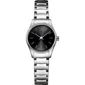 Calvin Klein CK Classic 極簡經典小錶徑女錶-黑x銀/24mm K4D23141