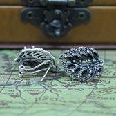 925純銀耳環-瑪瑙葉子造型高貴優雅生日情人節禮物女飾品73nb7[時尚巴黎]