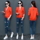 棒球外套 外套女裝韓版棒球服春秋新款百搭大碼短款女夾克衫 生活主義