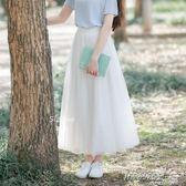 韓國版三層網紗紗裙半身長裙蓬蓬裙A字裙學生     時尚教主
