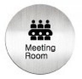 迪多deflect-o 612810C Meeting Room 英文會議室-鋁質圓形貼牌 / 個