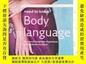 二手書博民逛書店Need罕見To Know? Body Language(肢體語