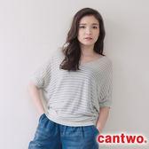 cantwo隱形感條紋連肩袖線衫(共三色)~網路獨家精選590