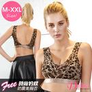 內衣 fashion豹紋(M-XXL)無痕彈力包覆減壓內衣(咖啡)【Daima黛瑪】