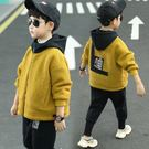 兒童外套 童裝男童外套加厚搖粒絨春秋冬裝2019新款洋氣兒童中大童上衣潮童