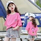 女童夏裝套裝2020兒童夏女霸氣時髦網紅中大童短袖T恤洋氣兩件套