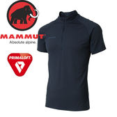 【MAMMUT Performance Dry Zip T-Shirt 男/L《海洋藍》】1017-00440-5118/長毛象/Primaloft/半開襟排汗衣★滿額送