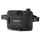 Puma Style 黑 腰包 側背包 斜背包 大容量 側背腰包 多夾層 運動 休閒 07804101